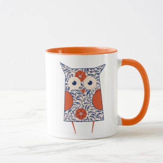 Vintage Owl Art Mug