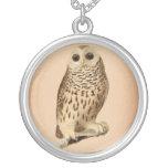 Vintage Owl Art Necklace