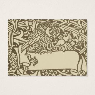 Vintage owl Art Nouveau bird Design Business Card