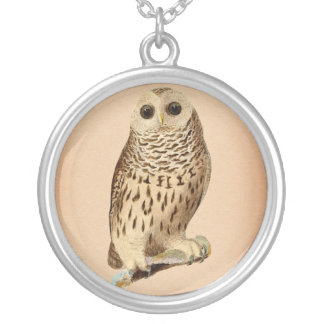 Vintage Owl Art Silver Plated Necklace