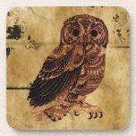 Vintage Owl Beverage Coasters