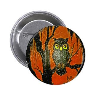 Vintage Owl cartoon Art Buttons