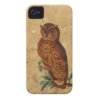 Vintage Owl Case-Mate iPhone 4 Cases