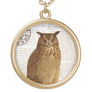 Vintage Owl...charm necklace