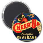 Vintage Owl Cheer Up Soda Pop Sign Ad Graphics Refrigerator Magnets