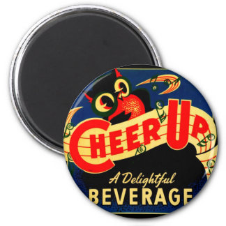 Vintage Owl Cheer Up Soda Pop Sign Ad Graphics Magnet