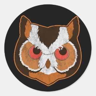 Vintage Owl Classic Round Sticker