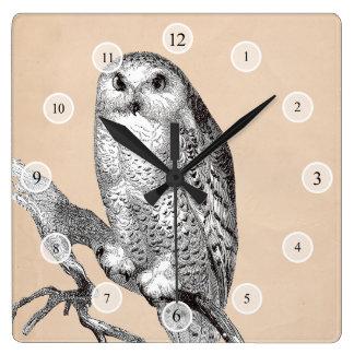 Vintage Owl Clock