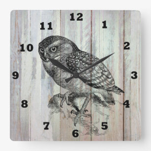 Vintage Owl Country Home Office Decor Clock