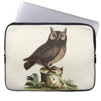 Vintage Owl Drawing Computer Sleeve
