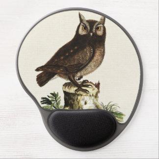 Vintage Owl Drawing Gel Mouse Pad