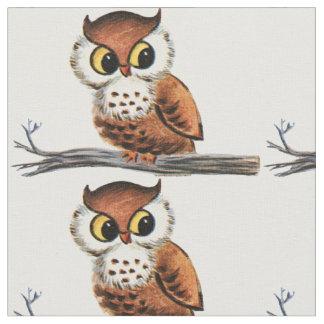 Vintage Owl Fabric