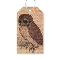 Vintage owl gift tags
