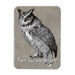 Vintage Owl Illustration Magnet