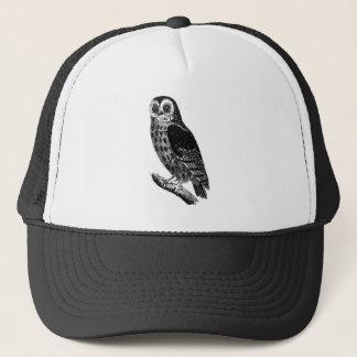 Vintage Owl Illustration Retro Antique Bird Owls Trucker Hat