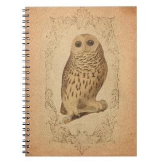Vintage Owl in Frame Notebook