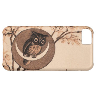 Vintage Owl in Moon Cover For iPhone 5C