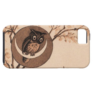 Vintage Owl in Moon iPhone 5 Cover