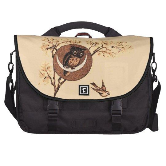 Vintage Owl in Moon Commuter Bag
