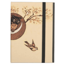 Vintage Owl in Moon iPad Air Cover