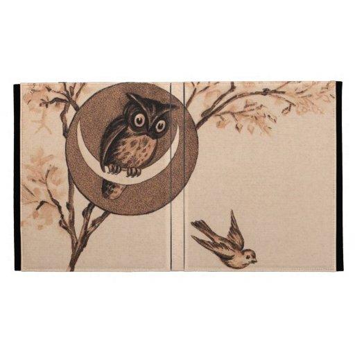 Vintage Owl in Moon iPad Cases