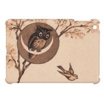 Vintage Owl in Moon iPad Mini Case
