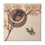 Vintage Owl in Moon Tiles