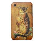 Vintage Owl iPhone 3 Case
