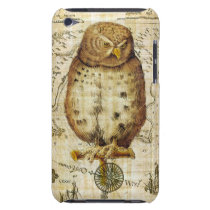 Vintage owl iPod touch Case-Mate case