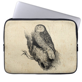 Vintage Owl Laptop Computer Sleeve