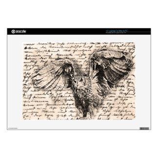 Vintage owl laptop decal