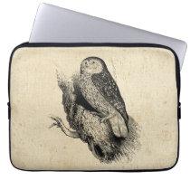 Vintage Owl Laptop Sleeve