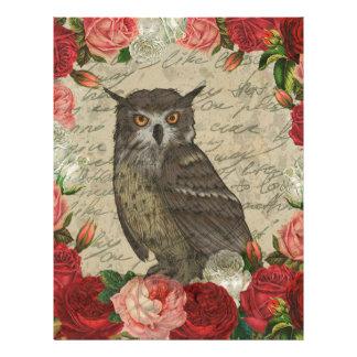 Vintage owl letterhead