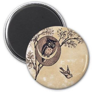 Vintage Owl Magnet