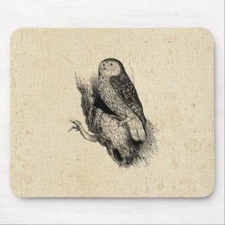 Vintage Owl Mouse Pad