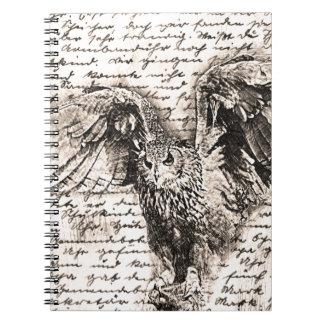 Vintage owl notebook