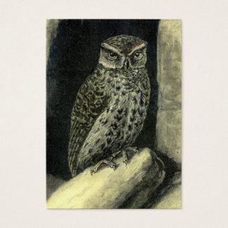 Vintage Owl Print Business Card