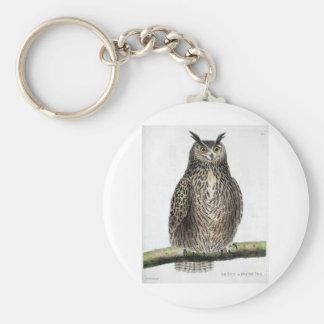Vintage Owl Print Keychain