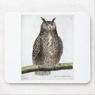 Vintage Owl Print Mouse Pad