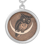 Vintage Owl Silver Plated Necklace
