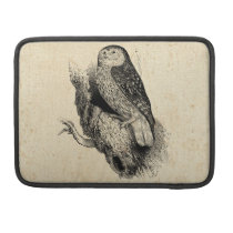 Vintage Owl Sleeve For MacBook Pro