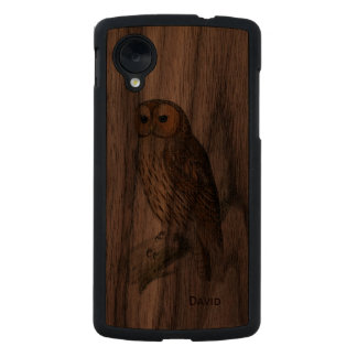 Vintage Owl Wooden Google Nexus 5 Case