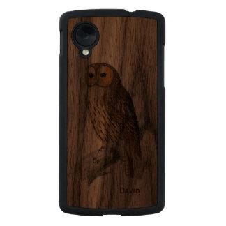 Vintage Owl Wooden Google Nexus 5 Case Carved® Walnut Nexus 5 Slim Case