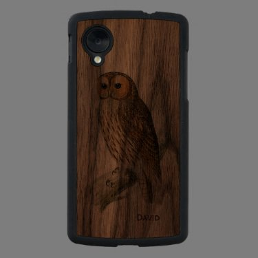 Vintage Owl Wooden Google Nexus 5 Case Carved® Walnut Nexus 5 Slim Case
