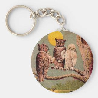 Vintage Owls Keychain