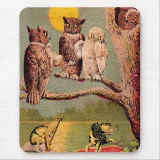 Vintage Owls Mouse Pad