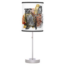 Vintage Owls Table Lamp