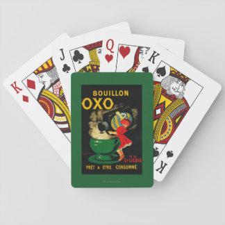 Vintage OXO PoseterEurope del caldo Baraja De Cartas