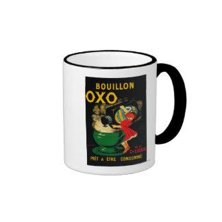 Vintage OXO PoseterEurope del caldo Taza A Dos Colores