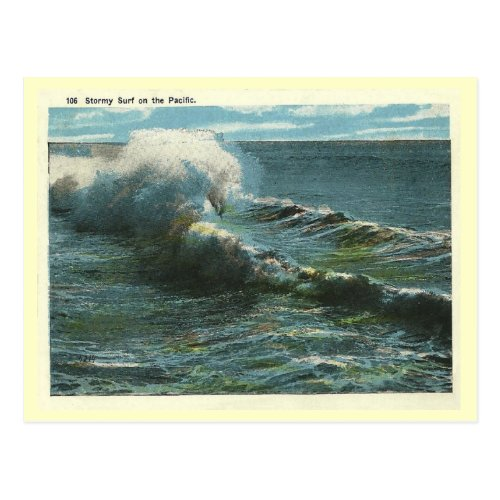 Vintage Pacific Surf Postcard